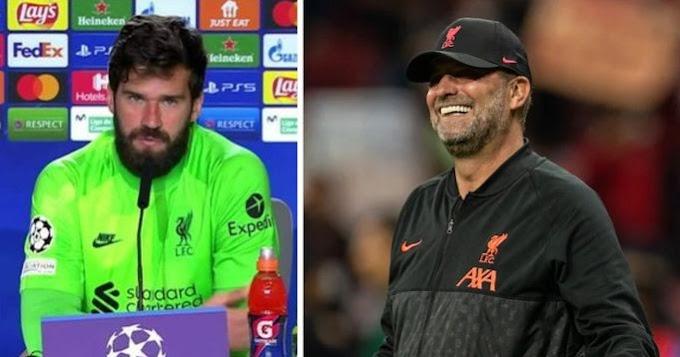 Alisson reveals Maestro Klopp behind Liverpool second-half turnaround vs Atletico