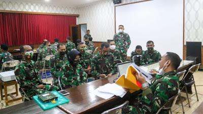 Tim Current Audit Itjenad Kunjungi Korem 071 Wijayakusuma