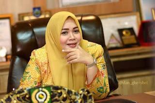 Untuk Ke Tiga Kalinya Hj. indah Damayanti  Putri, SE Di Lantik Sebagai Ketua DPD Partai Golkar Kabupaten Bima