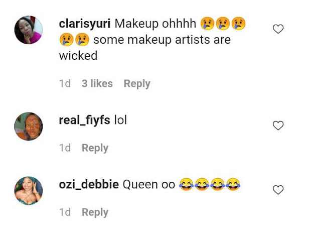 Which kan makeup be dis???- Fans mock BBNaija Queen over her Makeup