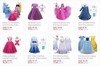 Girls Snow Queen 2 Elsa Dress