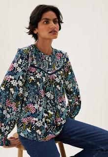 Marks & Spencer - Дамска Блуза с щампа