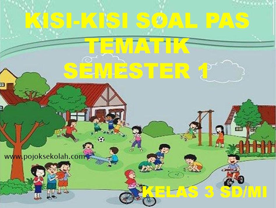 Kisi-kisi Soal PAS Tematik Kelas 3 SD/MI