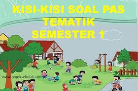 Kisi-kisi Soal PAS Tematik Kelas 3 SD/MI Semester 1 Kurikulum 2013 Tahun 2021-2022
