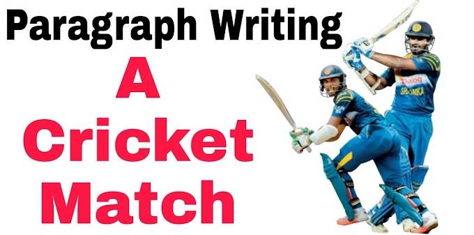 A Cricket Match Paragraph