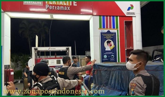 Langkanya BBM akhir pekan ini, Kasat Samapta Bersama Kanit Pam Obvit dan Team Alap-alap Sidak Beberapa SPBU di Jember