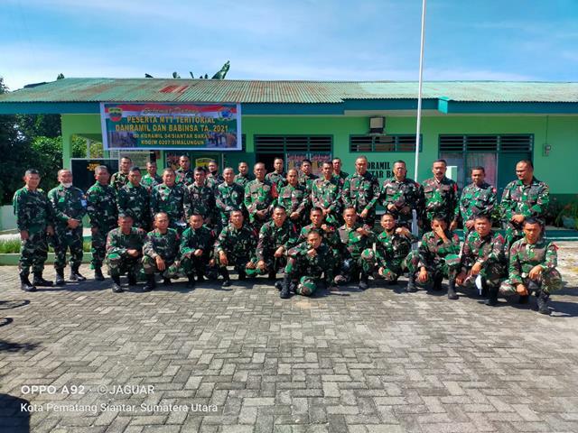 Jajaran Kodim 0207/Simalungun Turut Mengikuti Kegiatan Mobile Training Team (MTT) Dan Kunjungi Koramil