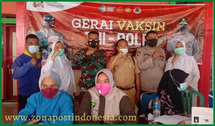 Pemerintah Desa Pelalangan Bersama TNI Polri dan GP Ansor, Lakukan Gerai Vaksin Guna Percepatan Herd Immunity dan Pengendalian Covid-19