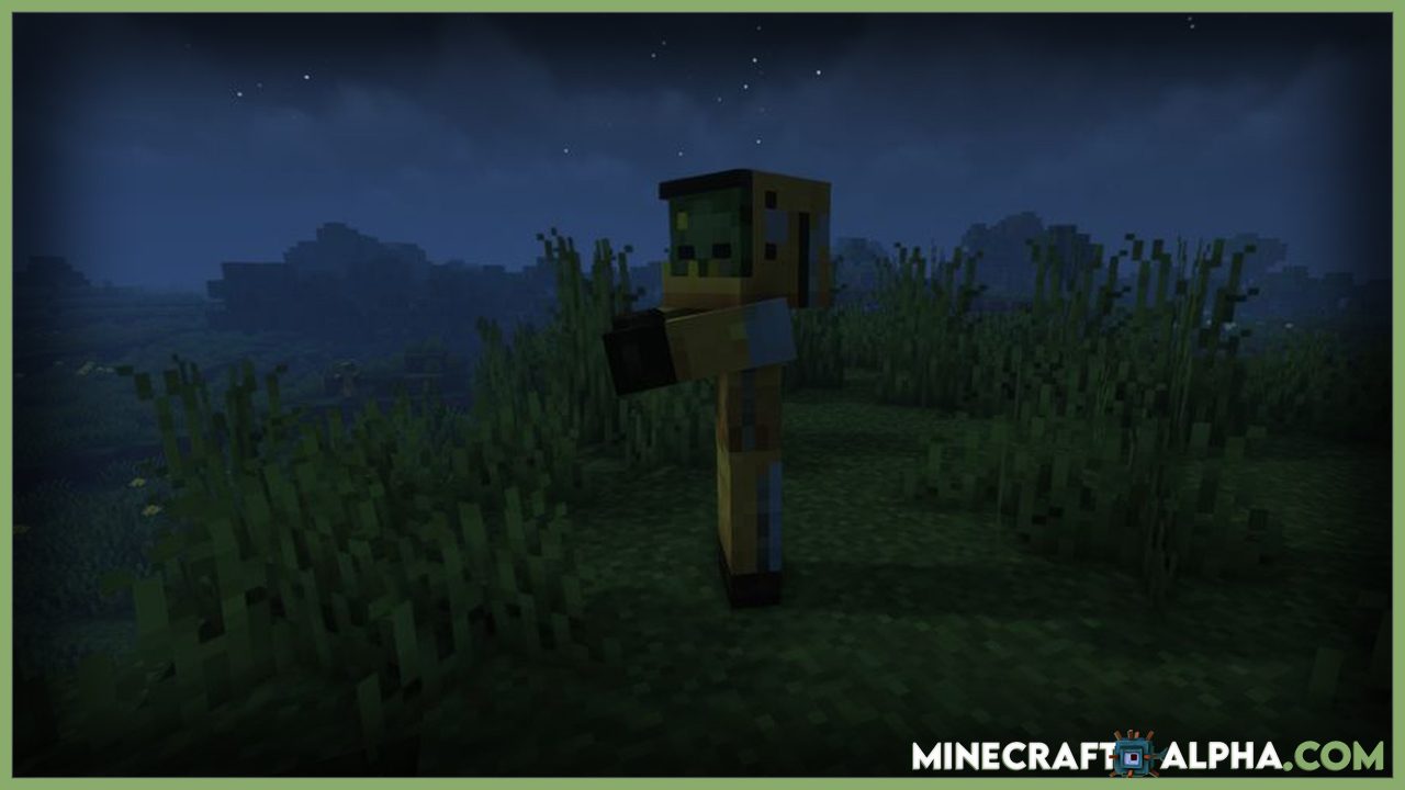 Zombienation Mod For 1.16.5 (Zombie And Hunger)