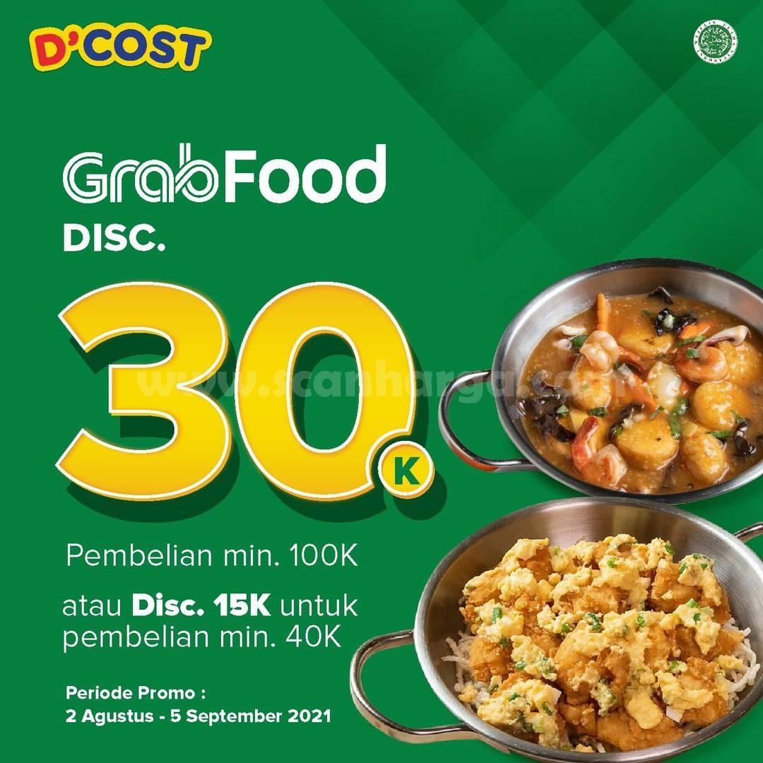 Promo DCOST DISKON Rp. 30.000 via GRABFOOD