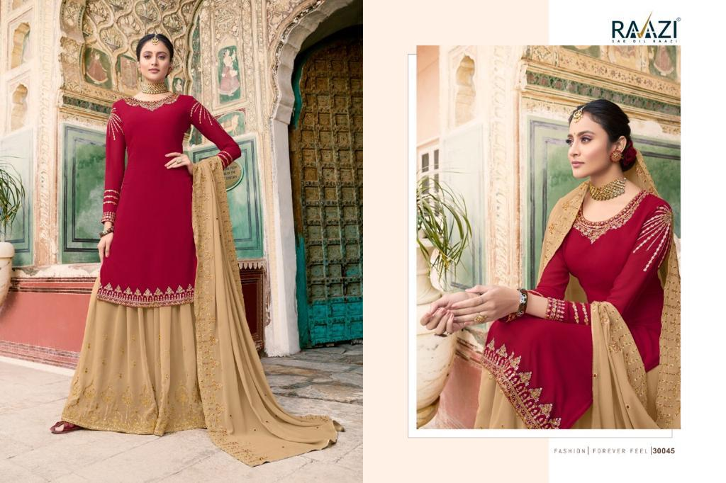 Raazi Dilbaro Vol 3 Plazzo Style Suits Catalog Lowest Price