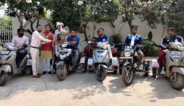 जांबाज दिव्यांग राइडर ग्रुप का फरीदाबाद पहुंचने पर विधायक राजेश नागर ने किया स्वागत