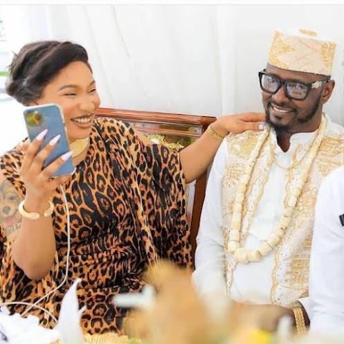 Nollywood actress, Tonto Dikeh's new lover, Prince Kpokpogr