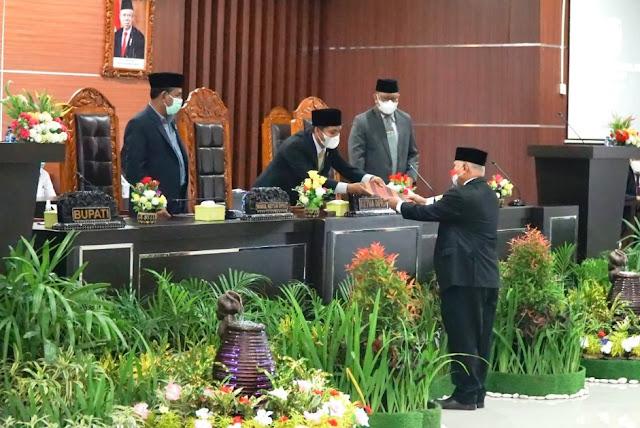 DPRD Lotim Rapat Paripurna penyampaian perubahan KUA-PPAS