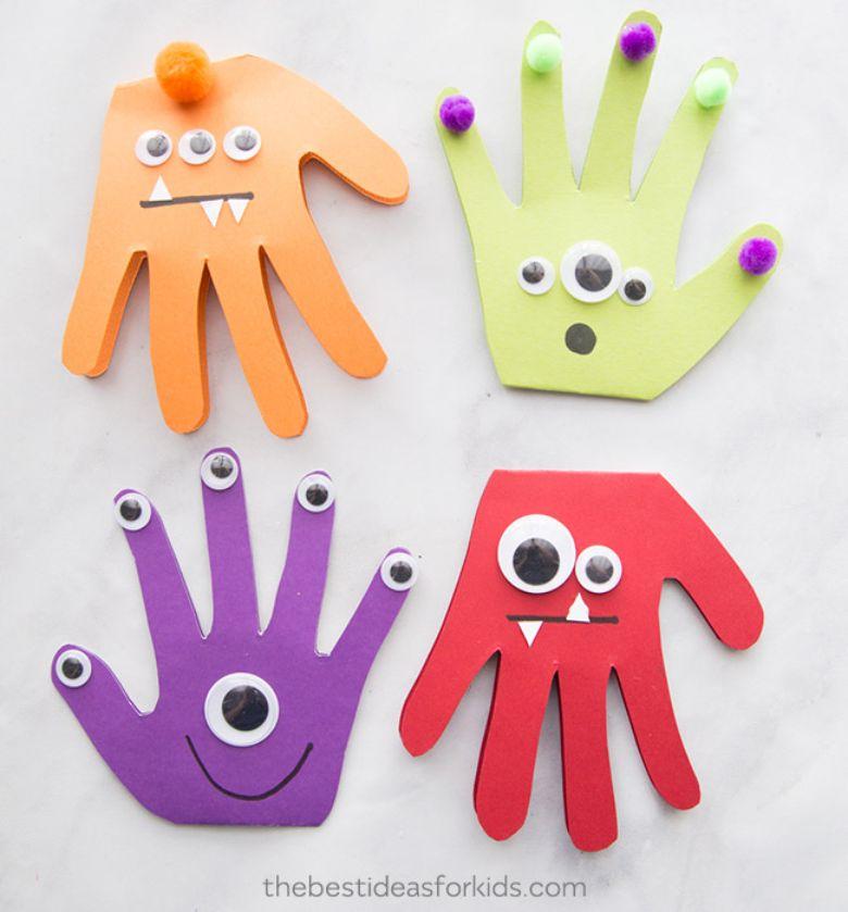 Monster handprint craft