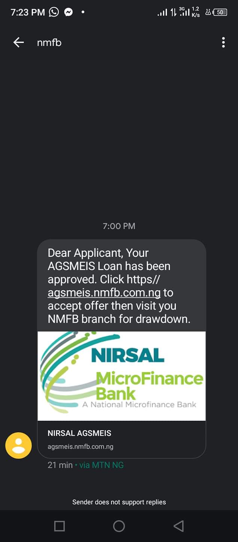 Rance Marar Kudin Ruwa: Bankin Nirsal Micro Finance Sun cigaba da Aikawa Mutane Sakon Approved Kowa Ya Zama Cikin Shiri