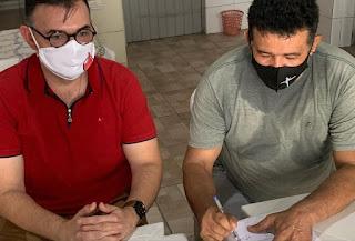 Ao lado de Tafarel Roberto Dep Raniery Paulino visita a FCD em Guarabira e reafirma compromisso com a instituição