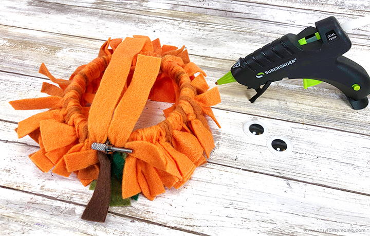 Pumpkin Wreath Back