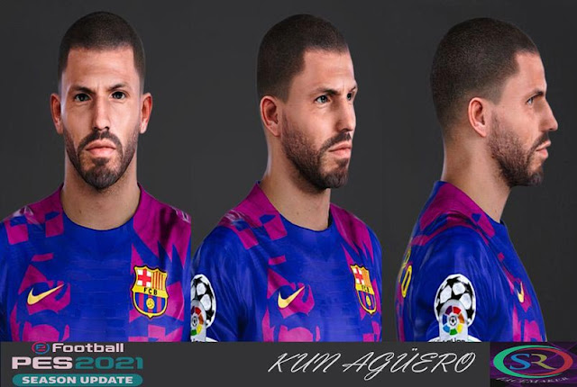 Kun Agüero New Hair Style For eFootball PES 2021