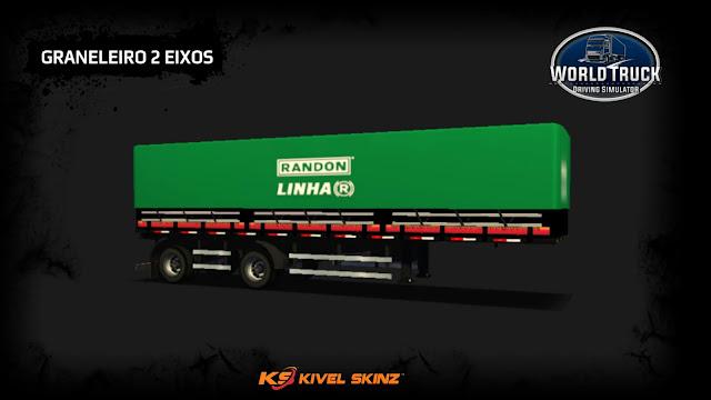 GRANELEIRO 2 EIXOS - VERDE COM ESCURO