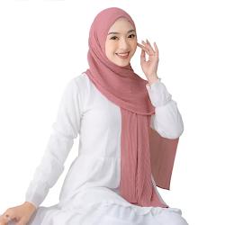 Maula Hijab Pashmina Plisket  Model Terbaru Kekinian