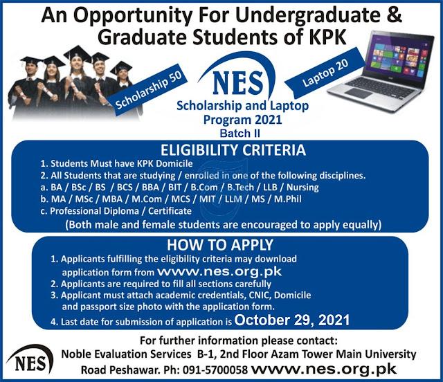 NES Scholarship and Laptop Program Bath II