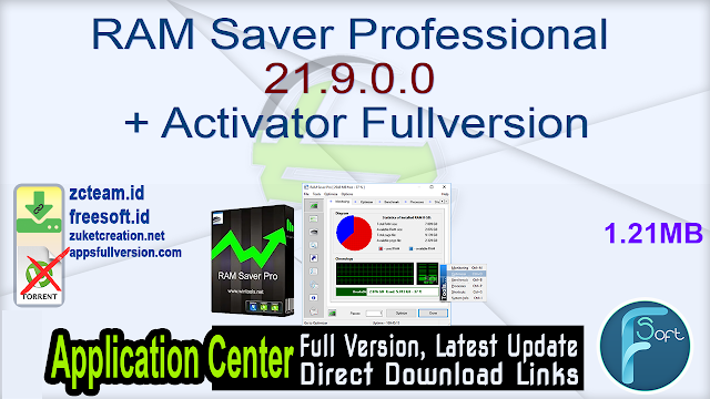 RAM Saver Professional 21.9.0.0 + Activator Fullversion