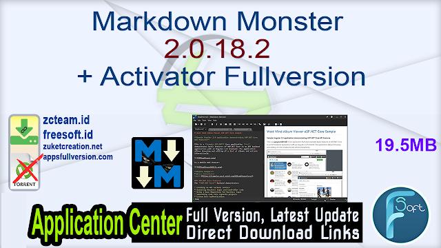 Markdown Monster 2.0.18.2 + Activator Fullversion