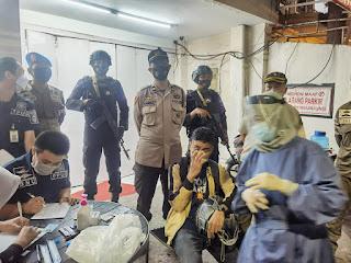 Operasi PPKM, Polres Pelabuhan Makassar terus Awasi Kedisiplinan Protokol Kesehatan