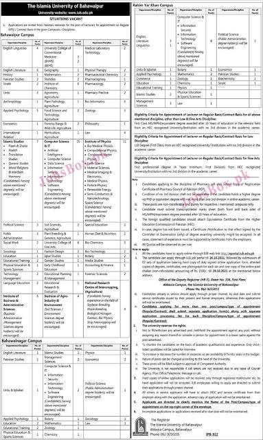 iub-Lecturers-jobs-2021-apply-online