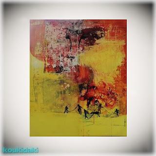Πίνακας ζωγραφικής Niki Zahari (Η φωνή του αέρα, ακρυλικό σε καμβά, 2021)