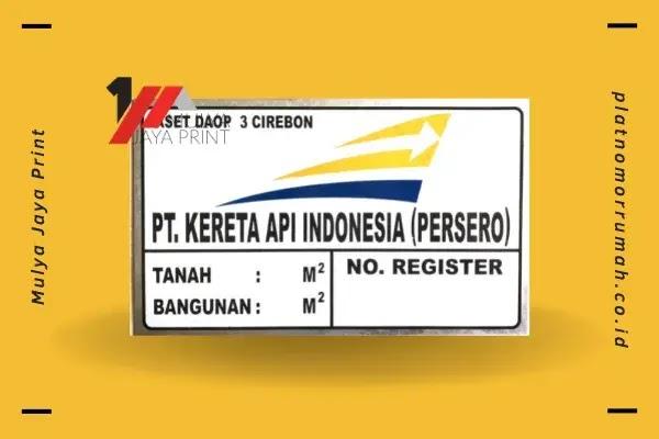 Plat Untuk Penomoran Aset PT.KAI