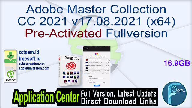 Adobe Master Collection CC 2021 v17.08.2021 (x64) Pre-Activated Fullversion