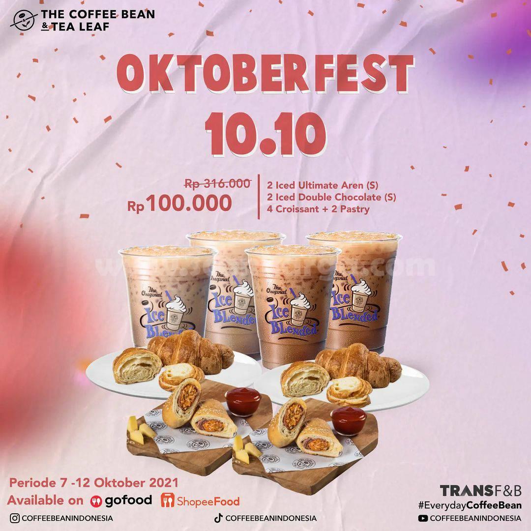 Promo COFFEE BEAN Terbaru OKTOBERFEST 10.10 – Harga 10 Menu Rp. 100.000