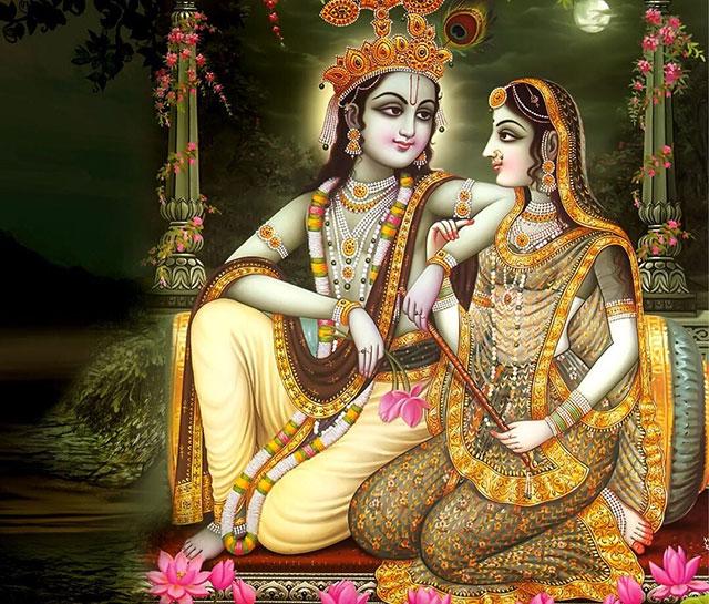 radha ki photoi krishan bhagwan ke sath