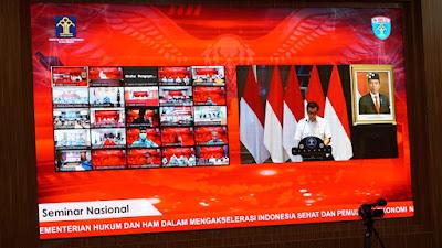 Menkumham Yasonna: Mari Berperan dalam Pemulihan Ekonomi Nasional