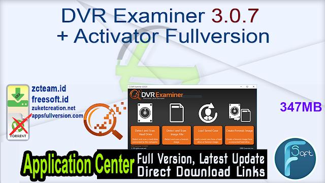 DVR Examiner 3.0.7 + Activator Fullversion