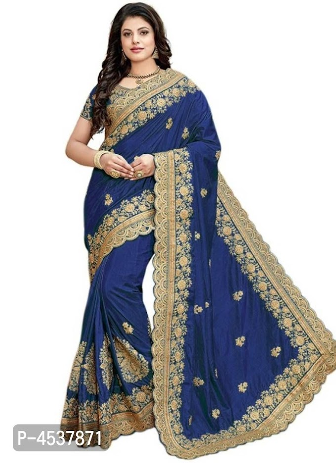 Cotton Silk Embroidered Saree with Blouse Piece    Embroidered Saree Online   Cotton Saree Online Shopping  