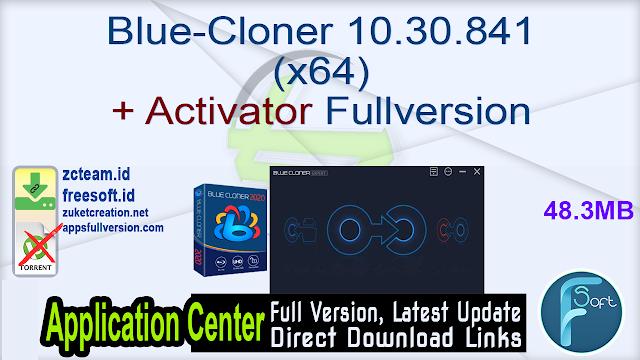 Blue-Cloner 10.30.841 (x64) + Activator Fullversion