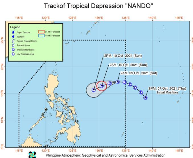 'Bagyong Nando' PAGASA track