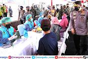 Panglima TNI Bersama Kapolri Tinjau Langsung Serbuan Vaksinasi di RSNU Mangir