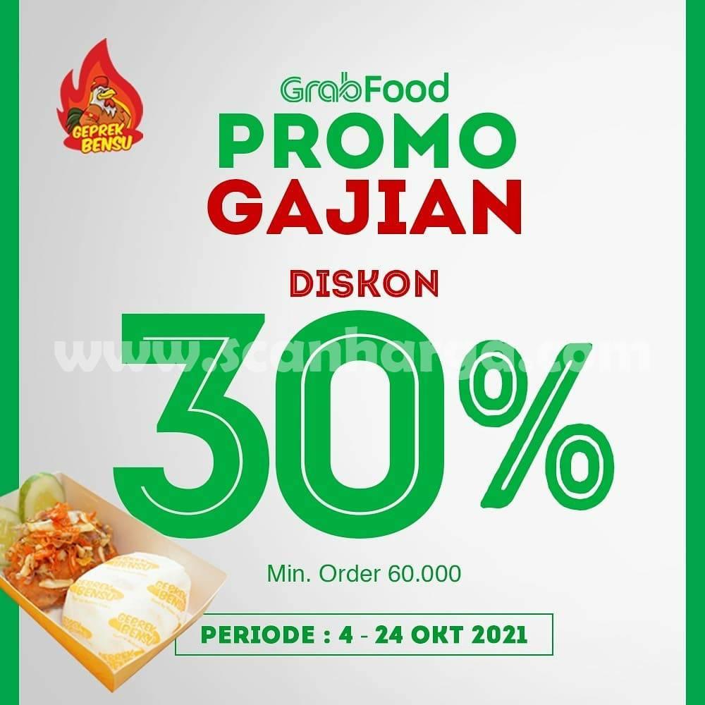 Promo GEPREK BENSU GAJIAN - DISKON 30% dari GRABFOOD