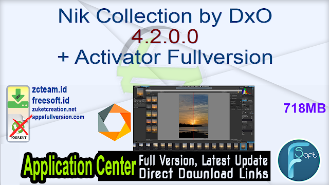Nik Collection by DxO 4.2.0.0 + Activator Fullversion