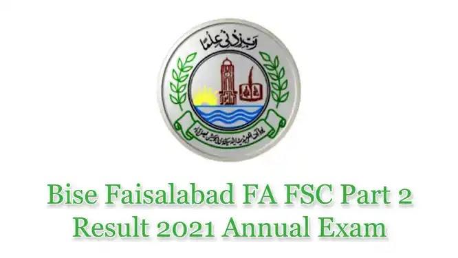 BISE Faisalabad Board HSSC Inter FSc FA Top Position Holders 2021