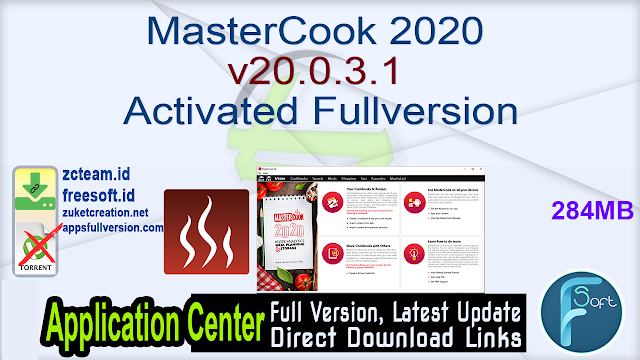 MasterCook 2020 v20.0.3.1 Activated Fullversion
