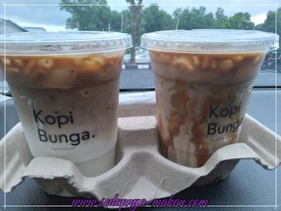 kopi&bunga coffee dan Iced caramel macchiato coffee