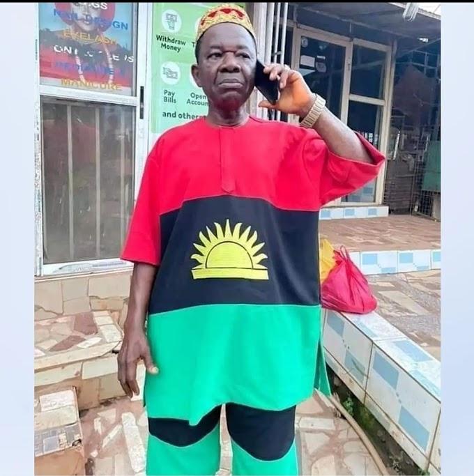 Veteran actor, Chinwetalu Agu brutalized by soldiers for wearing a Biafran flag costume (video