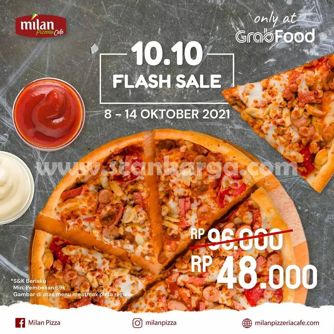 Promo Milan Pizzeria Flash Sale 10.10 Diskon 50% Khusus pemesanan via Grabfood
