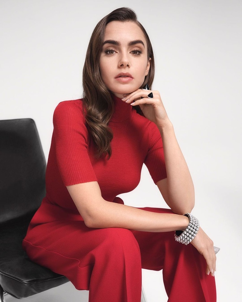 Lily Collins glitters and dazzles for the Cartier Clash Unlimited Campaign