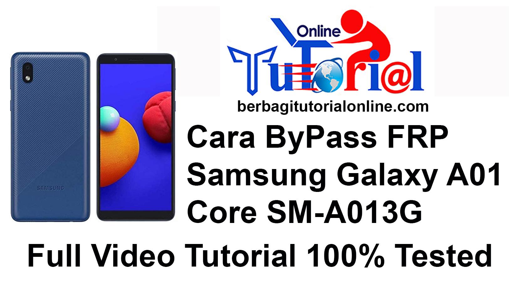 Cara ByPass FRP Samsung Galaxy A01 Core SM-A013G
